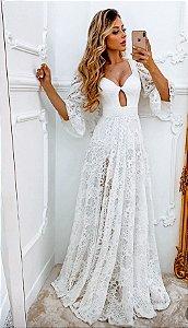 Vestido longo em renda Graziela