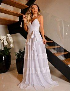 Vestido longo Branco Mariah