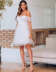 Vestido branco curto Artemis
