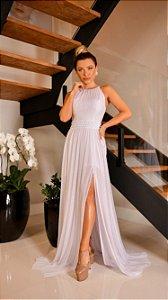 Vestido Branco Fluído Gabrielle