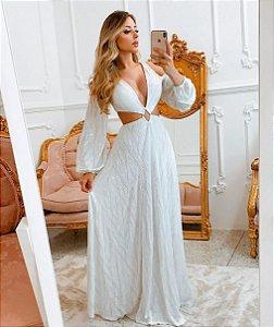 Vestido Branco longo Vegas