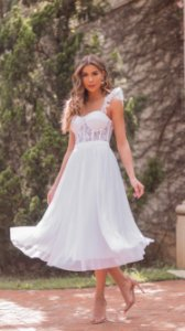 Vestido Midi Branco Grace