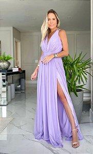 Vestido longo fluído Milena