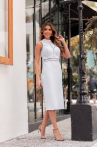 Vestido Midi Branco Serena