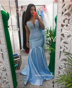 Vestido Longo Sereia em Zimbeline