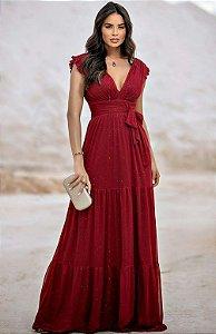 Vestido longo Lurex Bruna
