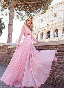 Vestido longo em Chiffon Giovanna