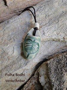 Folha Bodhi - difusor de aroma pessoal - Verde
