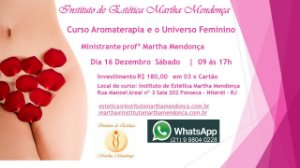 Inscrição no Curso Aromaterapia e o universo feminino