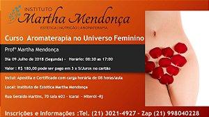 Inscrição Curso Aromaterapia e o Universo Feminino