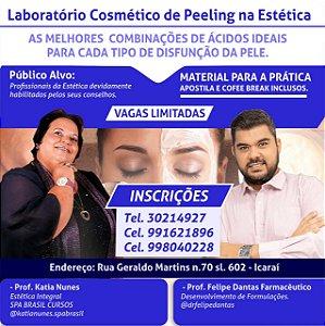 Inscrição: Laboratório Cosmético de Peeling na Estética