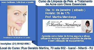 Curso de Limpeza de pele e tratamento de acne com  óleos essencias