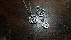 Trio de Medalhões em Ouro 18k