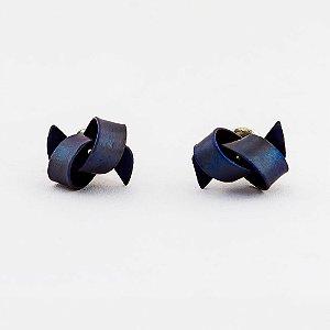 Brincos Mini Knot em Titânio Anodizado e Paládio 600 | Sob Medida