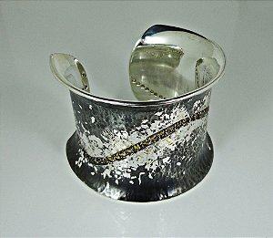 Bracelete único em Prata 950 com citrinos