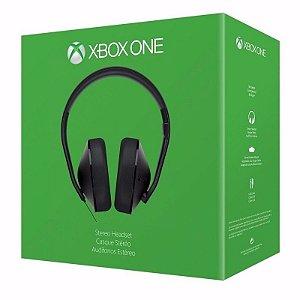 Headset Xbox One Stereo Com Adaptador Original Microsoft