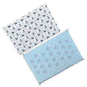 Travesseiro Anti Sufocante Bebê Estampado - Barquinho