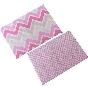 Travesseiro Anti Sufocante Bebê Estampado - Rosa