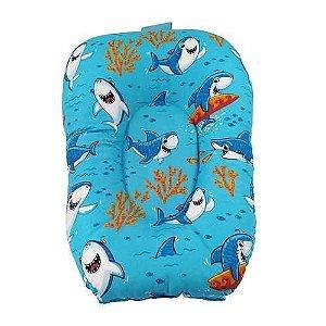 Almofada Para Banho Do Bebê - Tubarão - Azul