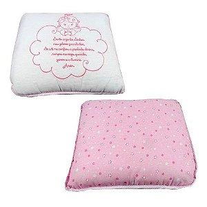 Travesseiro Bebê Anjinho Da Guarda - Rosa