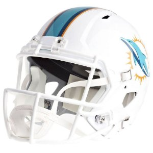 Mini Capacete Riddell NFL Miami Dolphins