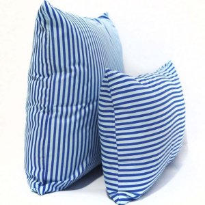 Kit Almofadas Azul Listrada
