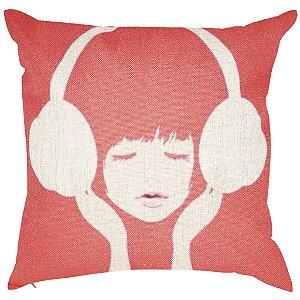 Almofada Listening to Music 45x45