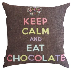 Almofada Keep Calm and Eat Chocolate 45x45