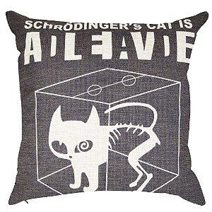 Almofada Gato de Schrödinger 45x45
