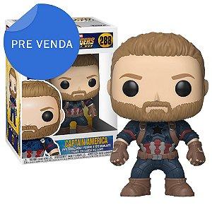 Boneco Funko Pop Marvel Avengers Infinity War Capitão América