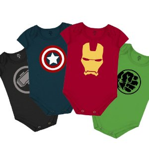 Kit Body Infantil Avengers