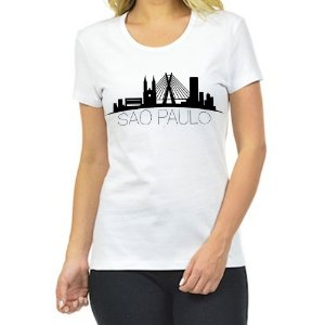 Camiseta Feminina Cidade São Paulo