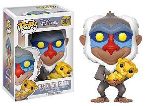Boneco Funko Pop! Disney: O Rei Leão - Rafiki e Simba
