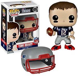 Boneco Funko Pop NFL Tom Brady c/ Case de Proteção