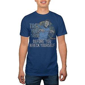 Camiseta Masculina Star Trek Azul