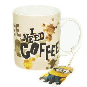 Caneca Minions I Need Coffee 300ml