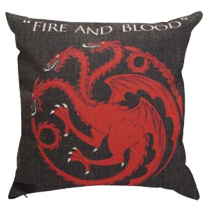 Capa Almofada Game Of Thrones Targaryen 45x45