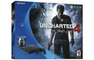 Console Playstation 4 Slim - HD 500 Gb + Jogo Uncharted 4