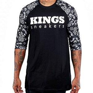 Camiseta Kings Raglan Mosaic Preta