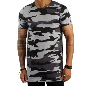 Camiseta Aposss Long Camouflaged