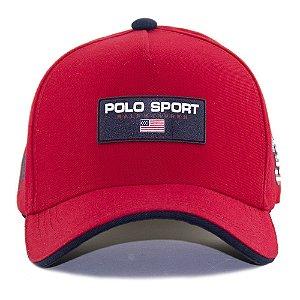 Boné Polo Ralph Lauren Sport Vermelho