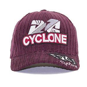 Boné Cyclone Veludo Marsala