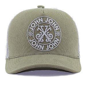 Boné John John Logo Green Grey