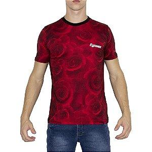Camiseta Egosss Floral Vermelha