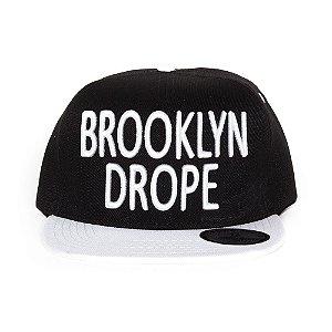 Boné Drope Jhose Brooklyn Snapback Preto / Branco