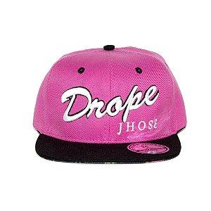 Boné Drope Jhose Snapback Rosa
