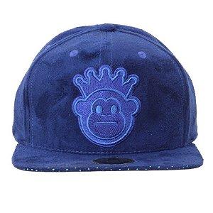 Boné Kings Snapback Azul Veludo