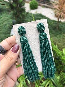 Maxi Brinco Miçangas Verde