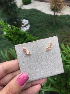 Mini Earcuff Dourado Gota Topazio