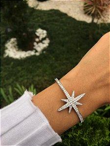 Pulseira Ródio Branco Estrela